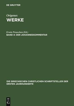 Abbildung von Preuschen | Der Johanneskommentar | 1903 | 10