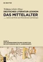 Das wissensvermittelnde Schrifttum bis zum Ausgang des 14. Jahrhunderts | Achnitz, 2014 | Buch (Cover)