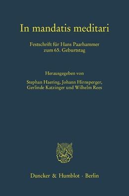 Abbildung von Haering / Hirnsperger   In mandatis meditari   1. Auflage   2012   58   beck-shop.de