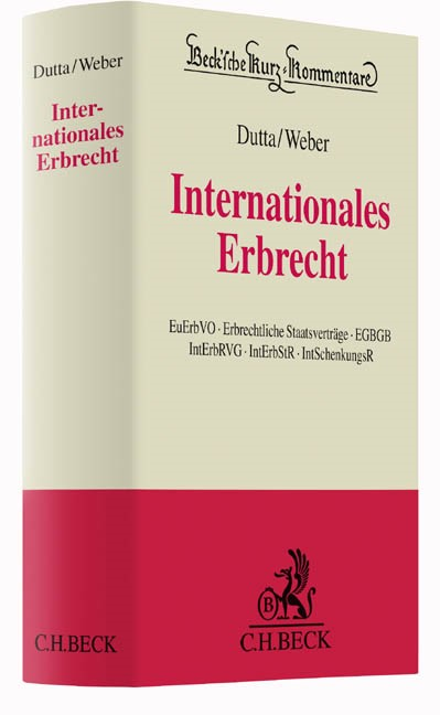 Internationales Erbrecht   Dutta / Weber   Buch (Cover)