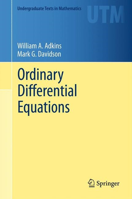 Ordinary Differential Equations | Adkins / Davidson, 2012 | Buch (Cover)