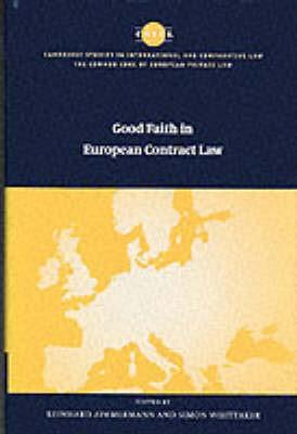 Abbildung von Zimmermann / Whittaker | Good Faith in European Contract Law | 2000