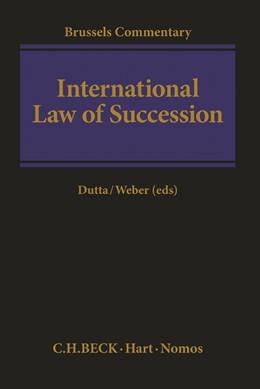 Abbildung von Dutta / Weber | International Law of Succession | 2019