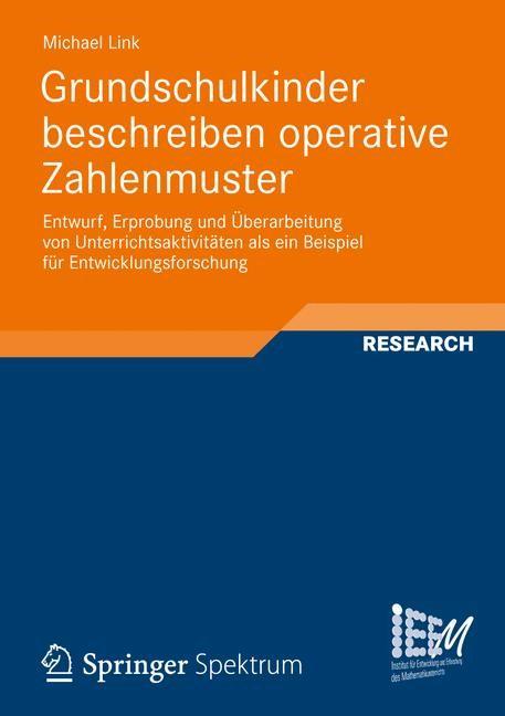 Grundschulkinder beschreiben operative Zahlenmuster   Link, 2012   Buch (Cover)
