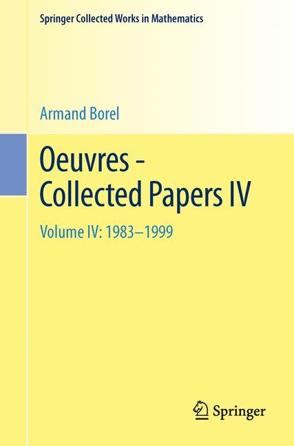Oeuvres - Collected Papers IV | Borel, 2013 | Buch (Cover)