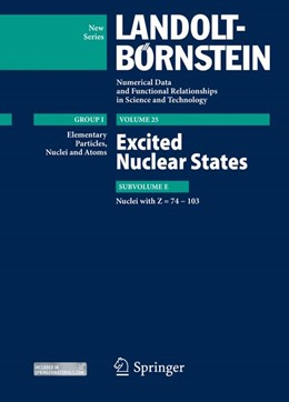 Abbildung von Schopper / Soroko / Sukhoruchkin | Excited Nuclear States - Nuclei with Z = 74-103 | 2013 | 25E