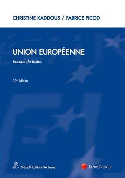 Union Européenne | Kaddous / Picod | 10. Auflage, 2012 | Buch (Cover)