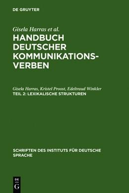 Abbildung von Harras / Proost / Winkler | Lexikalische Strukturen | 1. Auflage | 2011