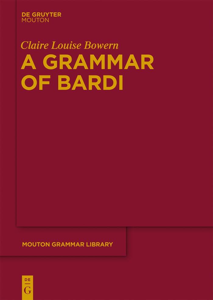 A Grammar of Bardi   Bowern, 2012   Buch (Cover)