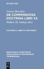 Liber IV continens | Lindsay / Nonius Marcellus | Unaltered reprint of the 1st ed. 1903, 2003 | Buch (Cover)