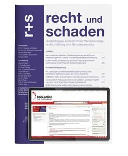 Abbildung von r+s • recht und schaden | 47. Jahrgang | 2020 | Unabhängige Zeitschrift für Ve...