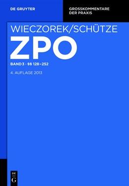 Abbildung von Gerken / Rohe / Smid   Zivilprozessordnung und Nebengesetze. Band 3 / §§ 128-252   4. Auflage   2012