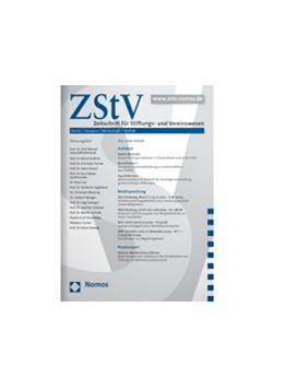 Abbildung von Zeitschrift für Stiftungs- und Vereinswesen • ZStV | 16. Auflage | 2021 | beck-shop.de