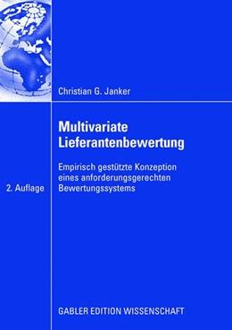 Abbildung von Janker | Multivariate Lieferantenbewertung | 2. Aufl. 2008 | 2008 | Empirisch gestütze Konzeption ...