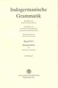 Indogermanische Grammatik | Lindner | Stand 2012: Lieferung 2, 2012 (Cover)