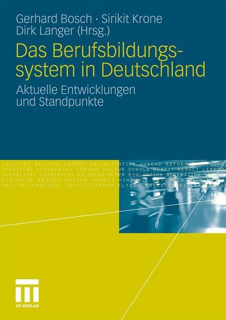 Das Berufsbildungssytem in Deutschland | Bosch / Krone / Langer, 2010 | Buch (Cover)
