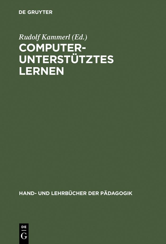 Computerunterstütztes Lernen | Kammerl | Reprint 2015, 2000 | Buch (Cover)