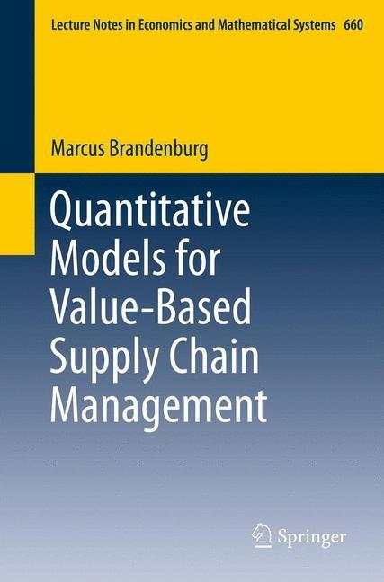 Quantitative Models for Value-Based Supply Chain Management | Brandenburg, 2012 | Buch (Cover)