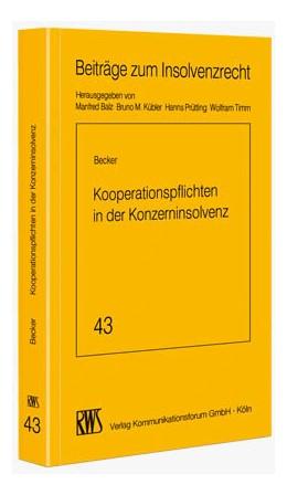 Abbildung von Becker | Kooperationspflichten in der Konzerninsolvenz | 2012 | Gesellschafterforderungen in d... | 43