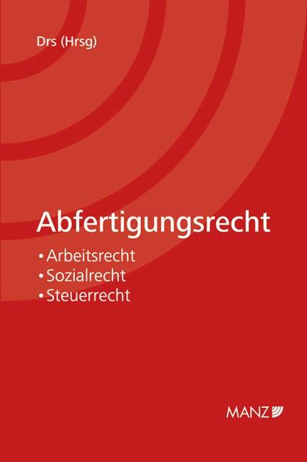 Abfertigungsrecht   Drs, 2012   Buch (Cover)