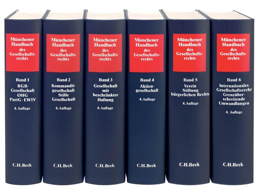 Münchener Handbuch des Gesellschaftsrechts | Buch (Cover)