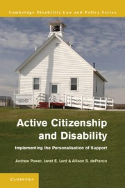 Abbildung von Power / Lord / DeFranco | Active Citizenship and Disability | 2013