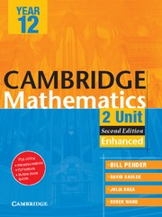 Abbildung von Pender / Saddler / Shea | Cambridge 2 Unit Mathematics Year 12 Enhanced Version | 2012