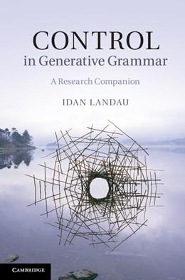 Abbildung von Landau | Control in Generative Grammar | 2013 | A Research Companion