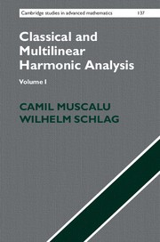 Abbildung von Muscalu / Schlag | Classical and Multilinear Harmonic Analysis | 2013
