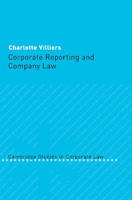 Abbildung von Villiers | Corporate Reporting and Company Law | 2012 | 5