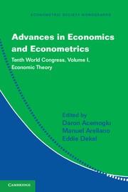Abbildung von Acemoglu / Arellano / Dekel | Advances in Economics and Econometrics | 2013