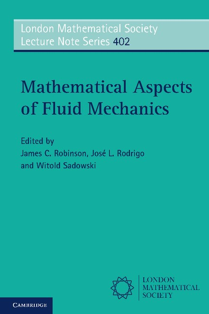 Abbildung von Robinson / Rodrigo / Sadowski | Mathematical Aspects of Fluid Mechanics | 2012