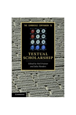 Abbildung von Fraistat / Flanders | The Cambridge Companion to Textual Scholarship | 2013