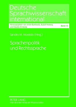 Abbildung von Moraldo | Sprachenpolitik und Rechtssprache | 2012 | Methodische Ansätze und Einzel... | 15