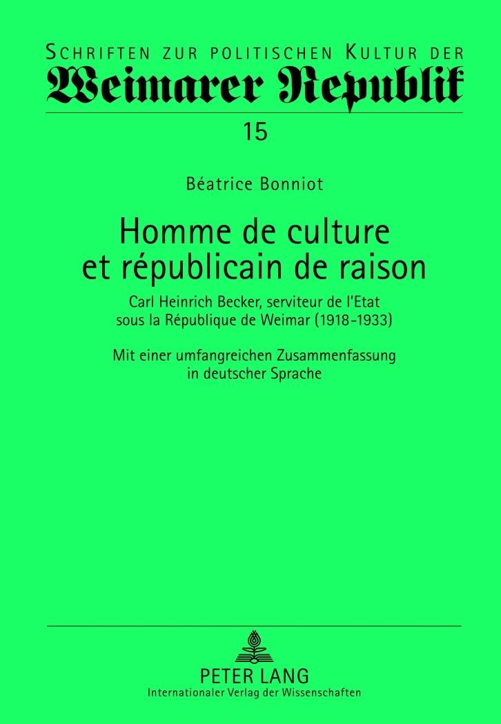 Abbildung von Bonniot | Homme de culture et républicain de raison | 2012