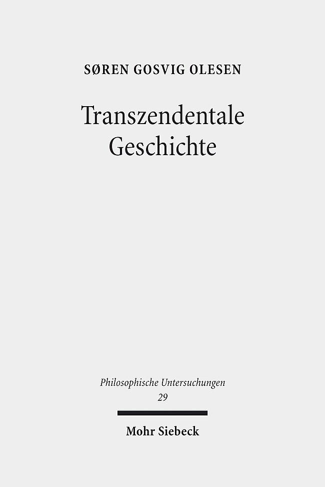 Transzendentale Geschichte | Olesen, 2012 | Buch (Cover)