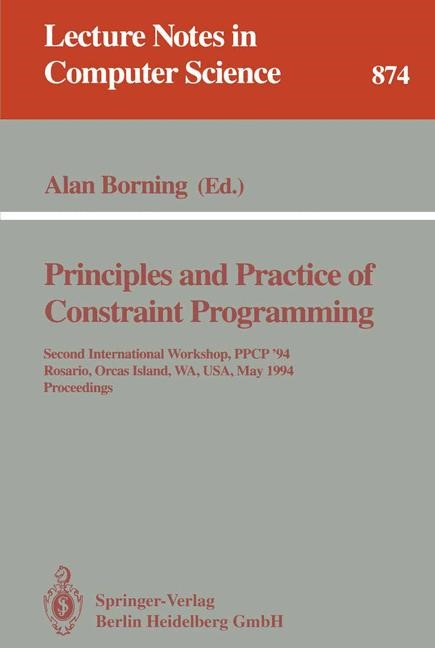 Principles and Practice of Constraint Programming | Borning, 1994 | Buch (Cover)