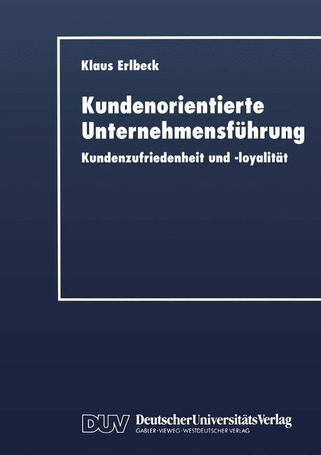 Kundenorientierte Unternehmensführung, 1999 | Buch (Cover)
