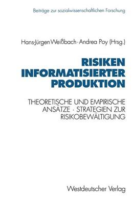 Abbildung von Poy   Risiken informatisierter Produktion   1993   1993   Theoretische und empirische An...   122