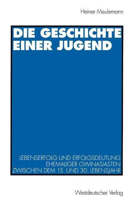 Abbildung von Die Geschichte einer Jugend | 1995 | 1995