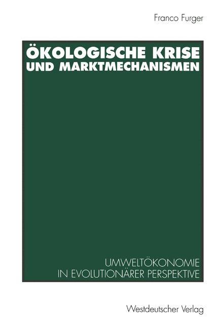 Ökologische Krise und Marktmechanismen | 1994, 1994 | Buch (Cover)