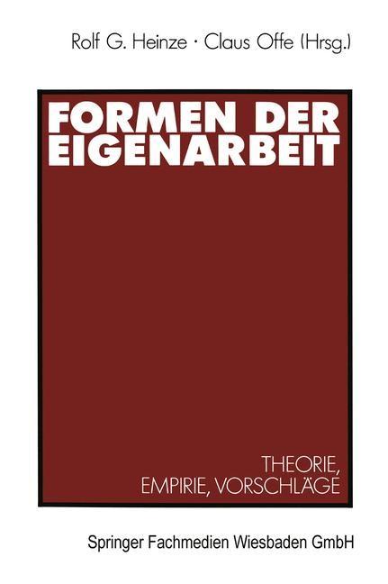 Formen der Eigenarbeit | Offe | 1990, 1990 | Buch (Cover)