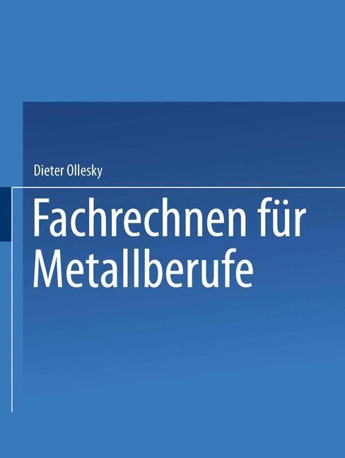 Fachrechnen für Metallberufe | Ollesky, 1998 | Buch (Cover)