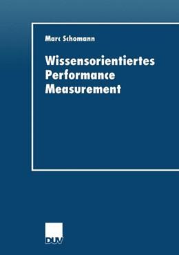 Abbildung von Schomann | Wissensorientiertes Performance Measurement | 2001