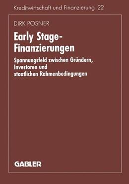 Abbildung von Posner | Early Stage-Finanzierungen | 1996 | 1996 | Spannungsfeld zwischen Gründer... | 207