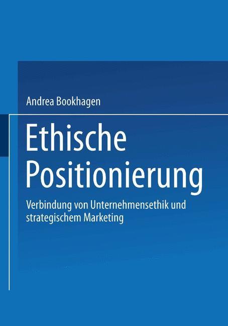 Ethische Positionierung   Bookhagen, 2001   Buch (Cover)