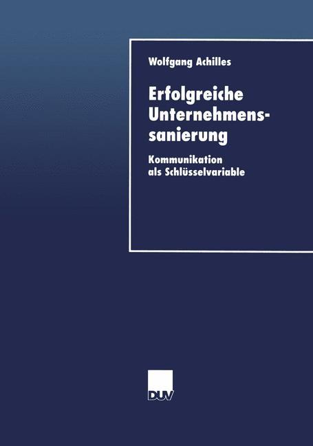 Erfolgreiche Unternehmenssanierung | Achilles, 2000 | Buch (Cover)