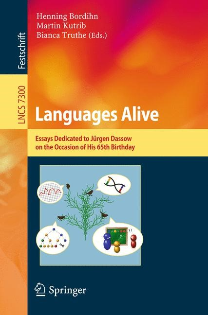Languages Alive | Bordihn / Kutrib / Truthe, 2012 | Buch (Cover)