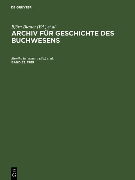 1989, 1989 | Buch (Cover)