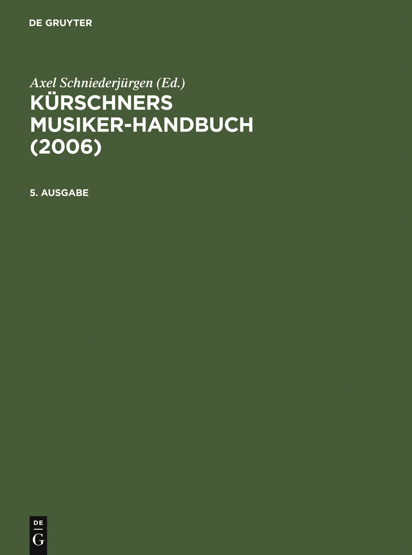 2006, 2005 | Buch (Cover)